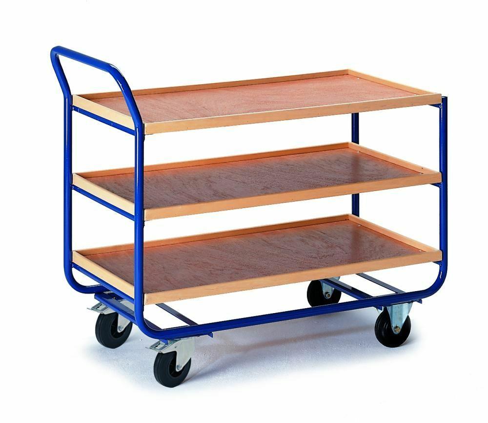 Tischwagen mit Holzrand