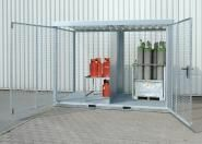 Gasflaschen-Container fv mit Gitterrostboden