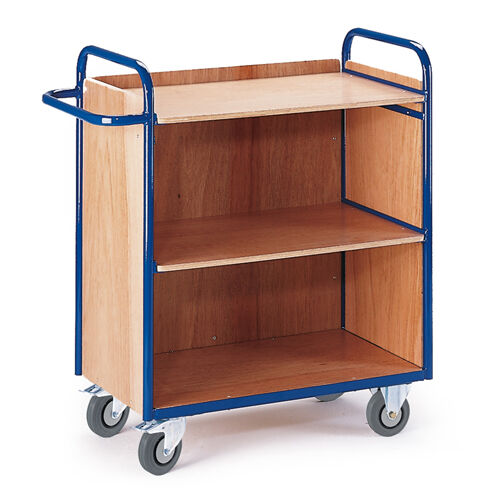 Etagenwagen mit/ohne Wand 800 x 490 mm | 3seitig Holzwände