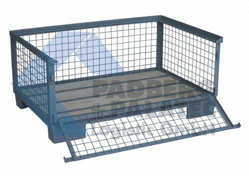 Halbhohe Gitterbox, voll abklappbar