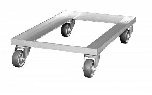Transportroller 618 x 420 mm, aus Aluminium, Lauffläche: thermoplastisches Gummi