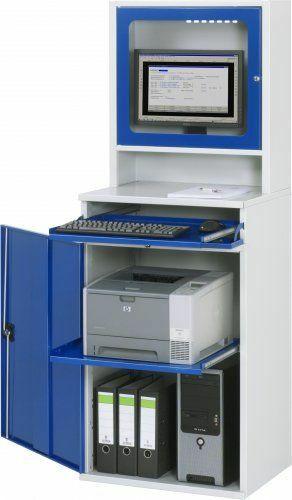 Computer-Schrank mit Monitorgehäuse stationär  | B 650 mm