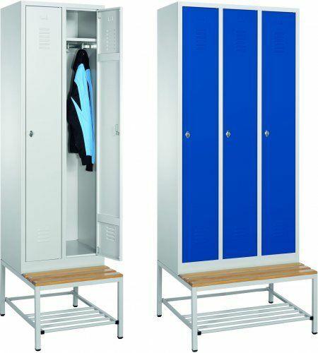 Garderobenschränke mit Bank │2 Abteile