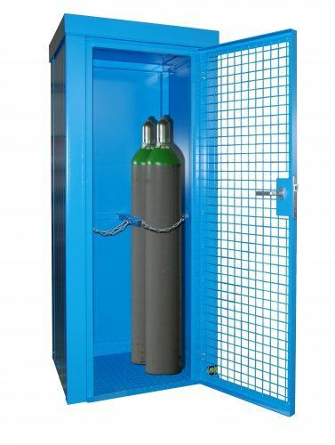 Gasflaschen-Container lackiert