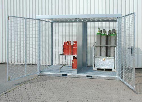 Zubehör zu verzinkten Gasflaschen-Containern
