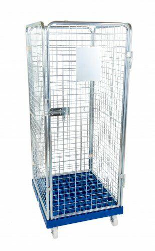 Drahtgitterbehälter 4-seitig 1600mm, 724 x 815mm, Kunststoffplatte