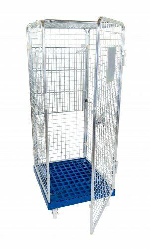 Antidiebstahlbehälter 1600mm, 724 x 815mm mit klappbarem Zwischenboden, Kunstrollstoffplatte