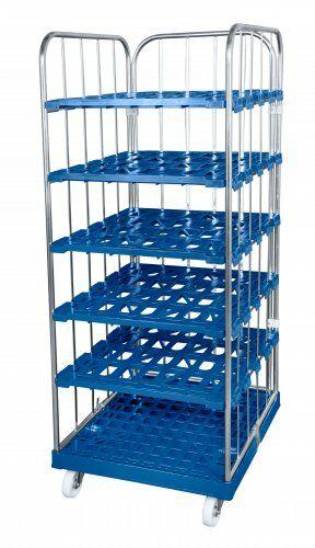 Kunststoffrollplatte 724 x 815 mm, mit 2 Seitengitter, 1 Rückwand, 1650 blau verzinkt