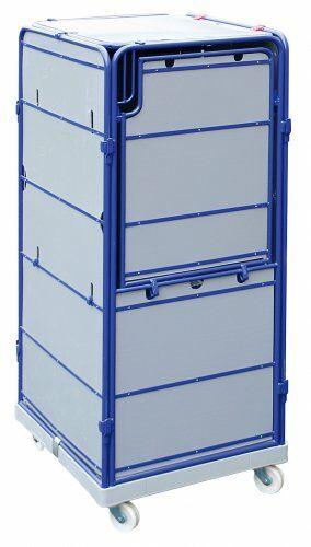 Logistik-Rollbox auf Kunststoffrollplatte