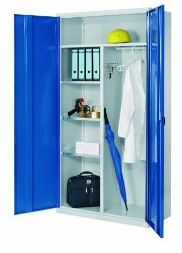Systemschrank RAL 7035  | Sichtfenster  | für Akten/Kleider  | 3  | 500 mm