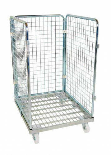 Drahtgitterbehälter 3-seitig 1020mm, 724 x 815mm, Stahlrollplatte