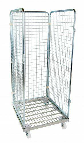 Drahtgitterbehälter 3-seitig 1600mm, 724 x 815mm, Stahlrollplatte