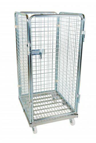 Drahtgitterbehälter 4-seitig 1350mm, 710 x 800mm, Stahlrollplatte