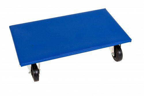 Möbelroller 600 x 300 mm, mit Vollgummirollen, Höhe: 145 mm
