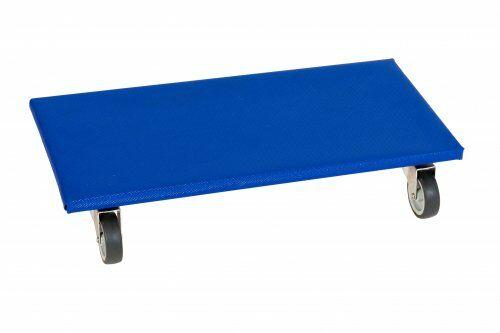 Möbelroller 600 x 300 mm, mit Vollgummirollen, Höhe: 120 mm