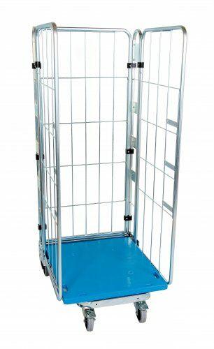 Nestbarer Rollbehälter 3-seitig 1550, Boden aus Kunststoff