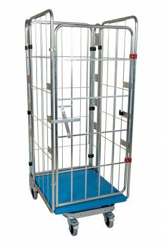 Nestbarer Rollbehälter 4-seitig 1550, Boden aus Kunststoff