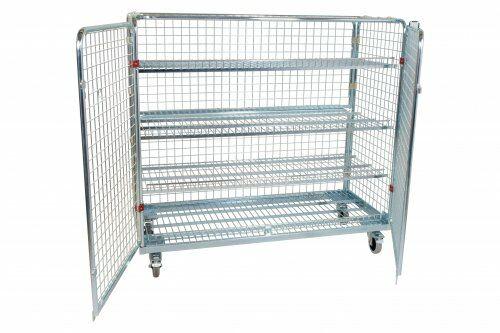 Stahlrollbehälter Antidiebstahl Ballwagen 1.400 mm, ohne Korb (Aufsatz)