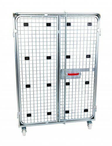 Stahlrollbehälter Antidiebstahl 1200 x 800 mm, mit Sichtschutz