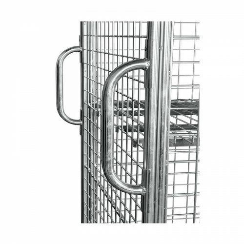 Griffset für Rollbehälter, für Quadratrohr 20 x 20 mm