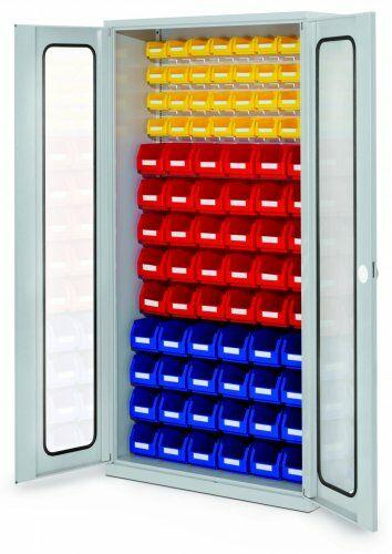 Schlitzplattenschränke für/mit Lagersichtkästen
