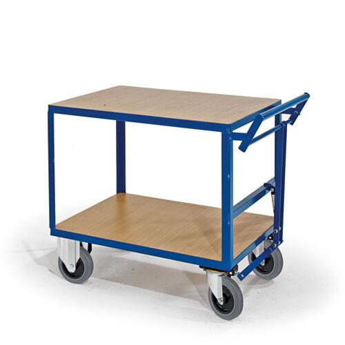 Schwerer Tischwagen mit Totmannbremse