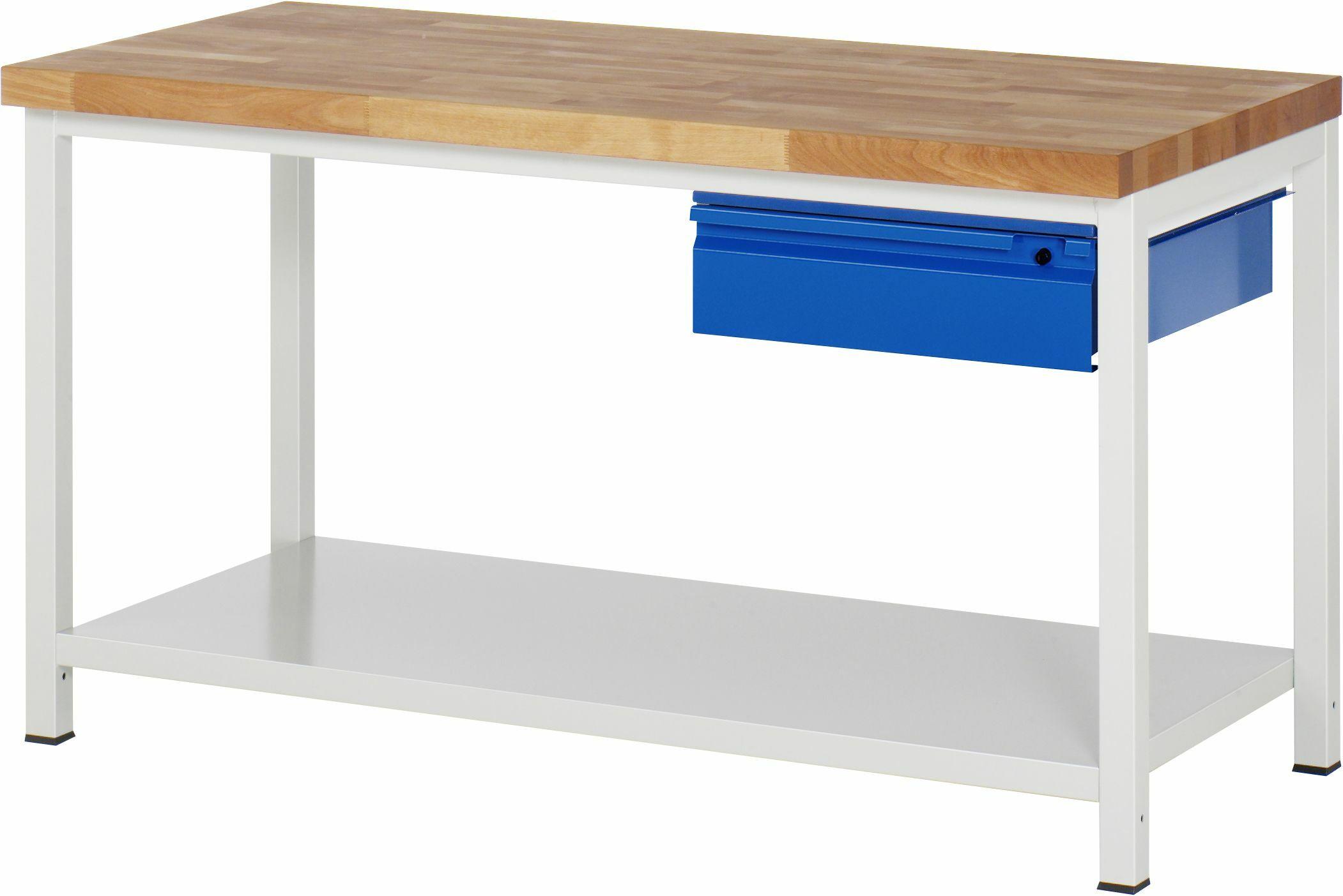 werkbank stahlblech ablageboden t650mm fachh he 620mm 1 h ngeschublade 150 mm online kaufen. Black Bedroom Furniture Sets. Home Design Ideas