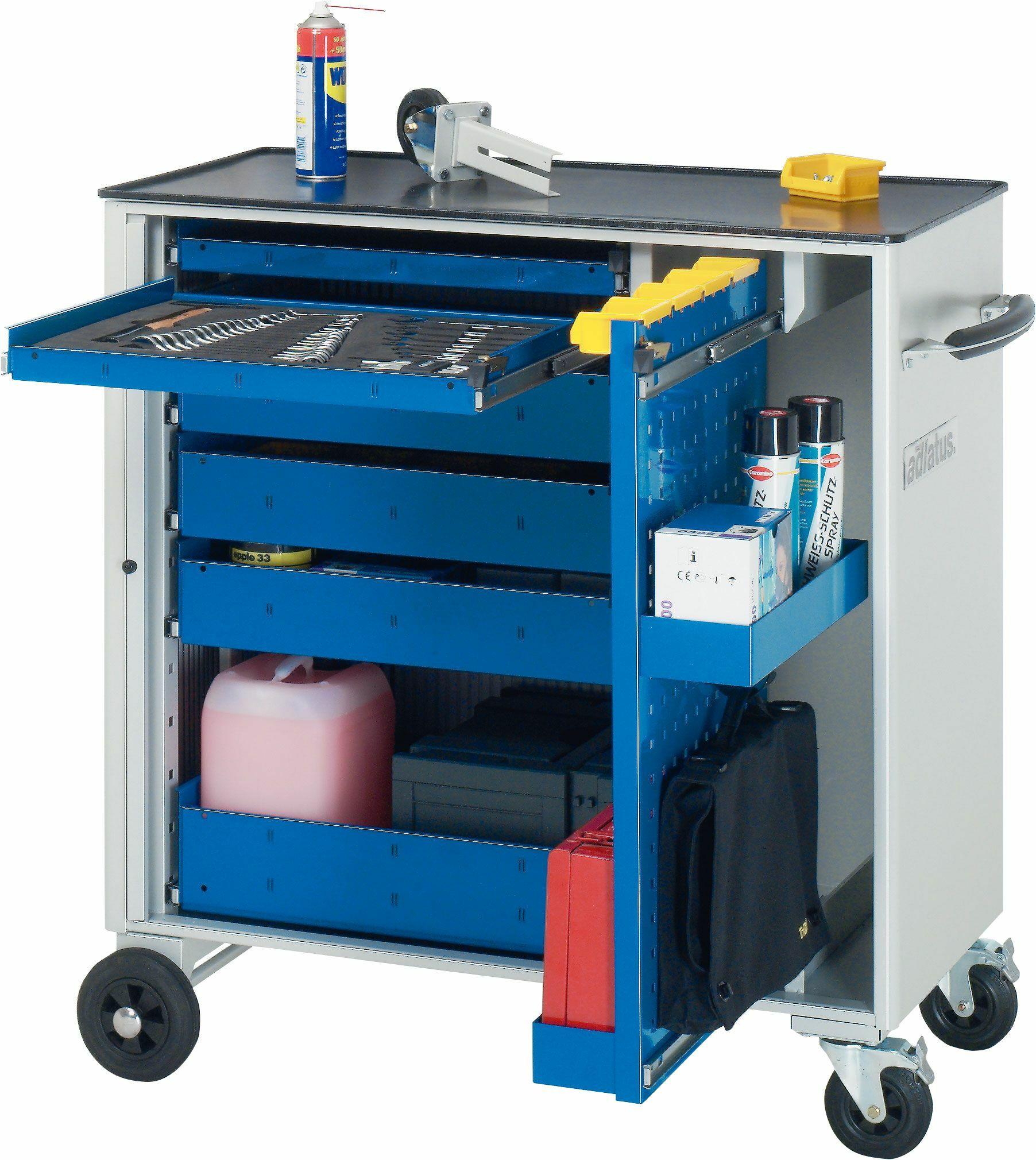 Werkstattwagen mit querrolladen online kaufen padberg for Mueble herramientas